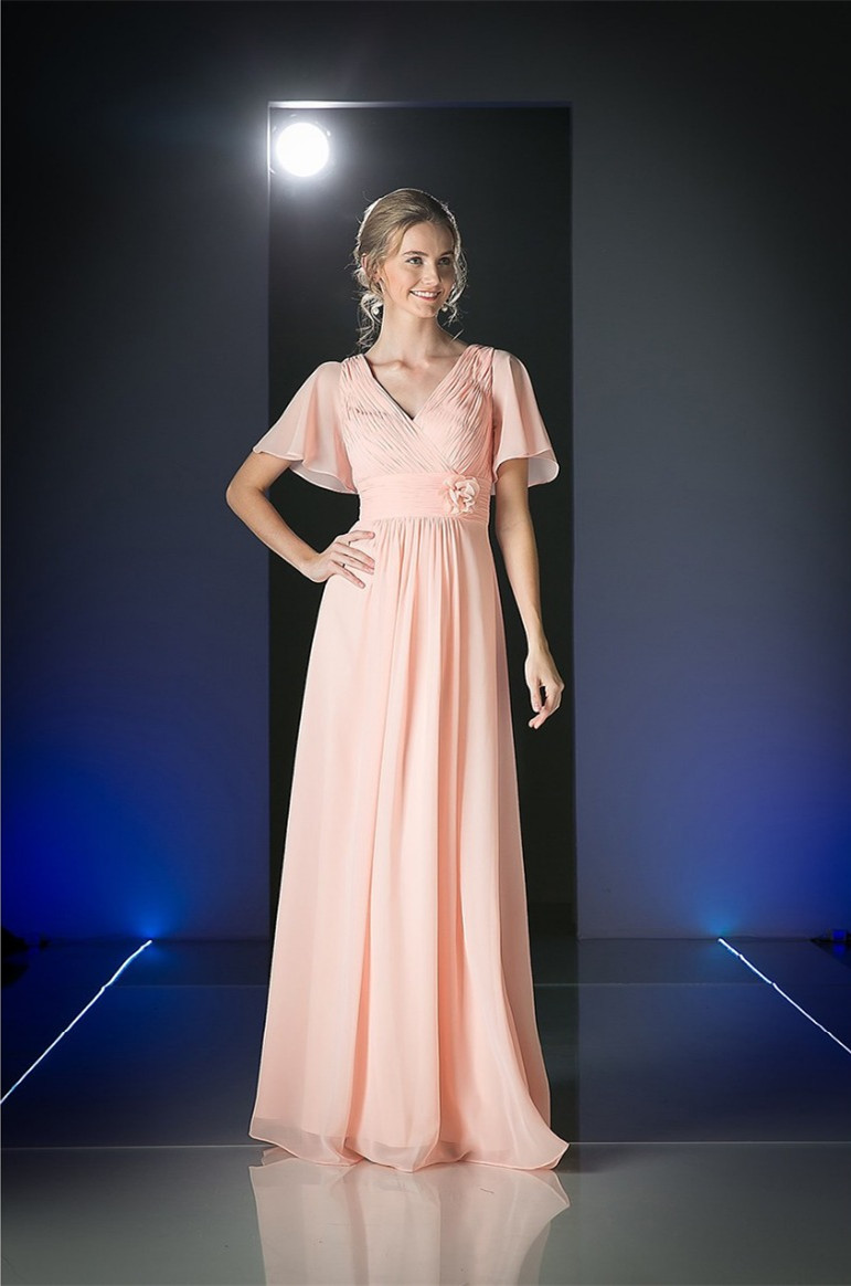 Compare prices on modest bridesmaid dresses pink online shopping 2016 pink coral navy long a line ruched chiffon beach modest bridesmaid dresses with short ombrellifo Gallery
