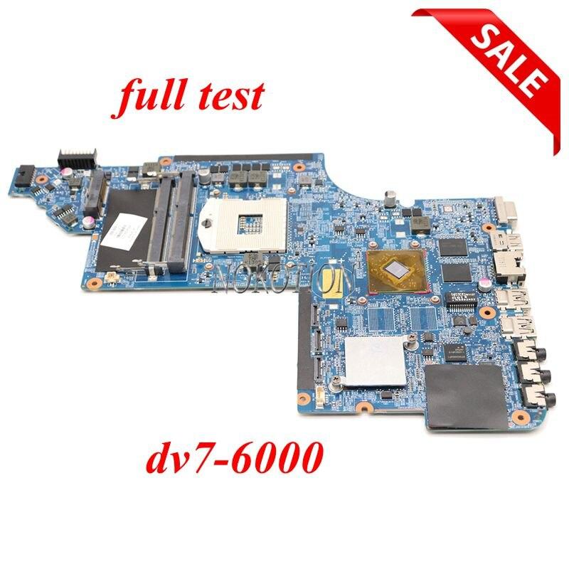 NOKOTION 659093-001 659094-001 For HP Pavilion DV7-6000 17 Inch Laptop Motherboard HM65 DDR3 HD6490 Graphics Full Test