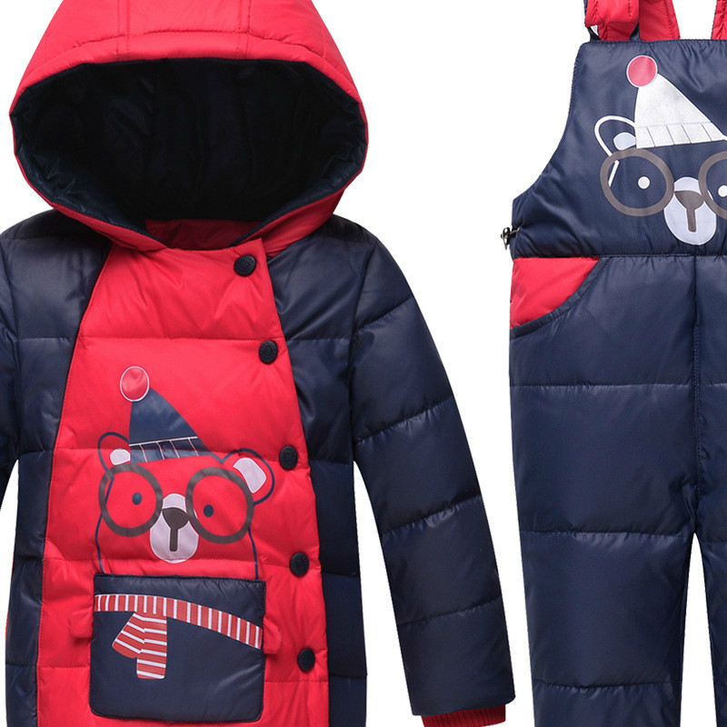 The Children Down Boys and Girls Two Suit Infant Child 2017 New Kids Thick Warm Clothes children autumn and winter warm clothes boys and girls thick cashmere sweaters