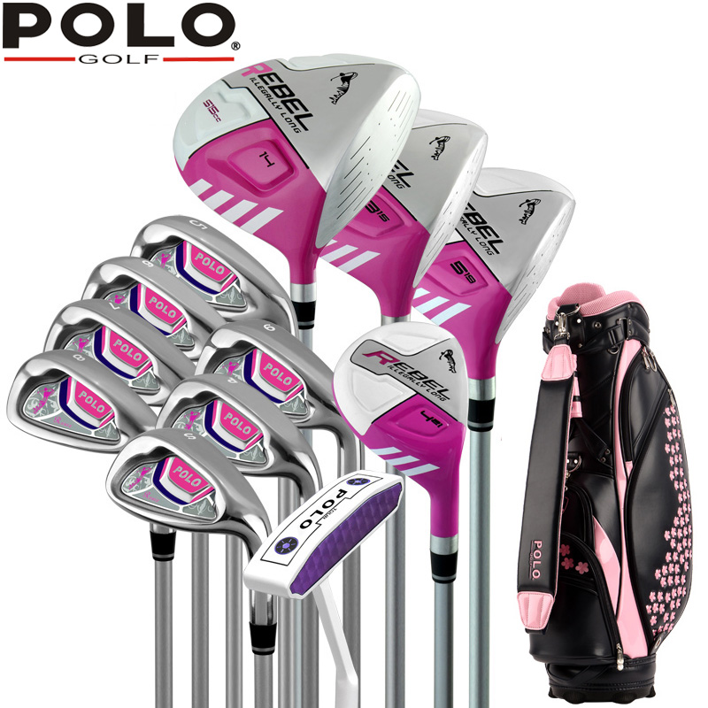 Brand POLO. Ladies golf clubs complete golf sets Women womens female golf clubs complete  full set protective 360 degree rotation pu leather case for samsung p6220 brown