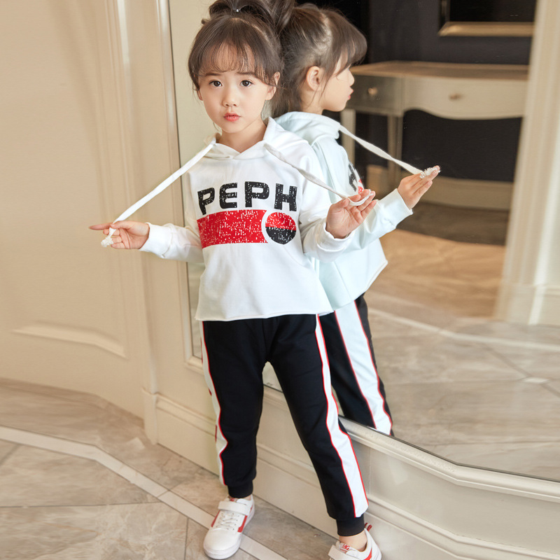 2018 Spring Sports Set Childrens Suits Girls Hoodies and Pants 2 pieces Sets Childrens Sweatshirts Clothing Kids Clothes