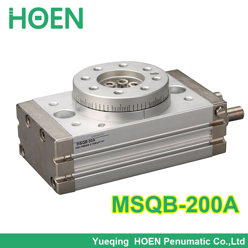 MSQB 200A MSQB 200R SMC Type Rotary Table Cylinders Rack and Pinion Type Air Pneumatic Cylinder MSQB200A MSQB200R smc type cylinder msqb 50a rotary table rack and pinion type bore size 25mm accept custom air cylinder smc cylinder