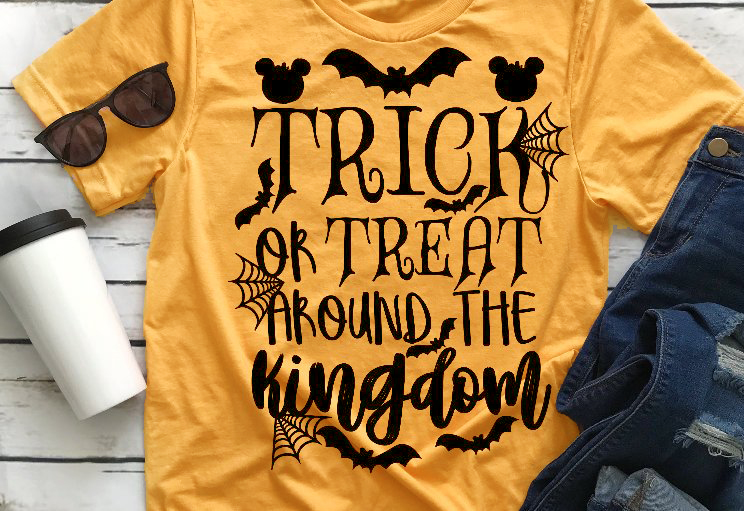 e838abc62 Trick or Treat around the Kingdom T-shirt dragon bat graphic funny Halloween  women fashion party street style tee goth shirt top