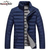 Speed Hiker Winter Jacket Men 2017 Cotton Padded Warm Thicken Short Jacket Coat Clothing Stand Collar