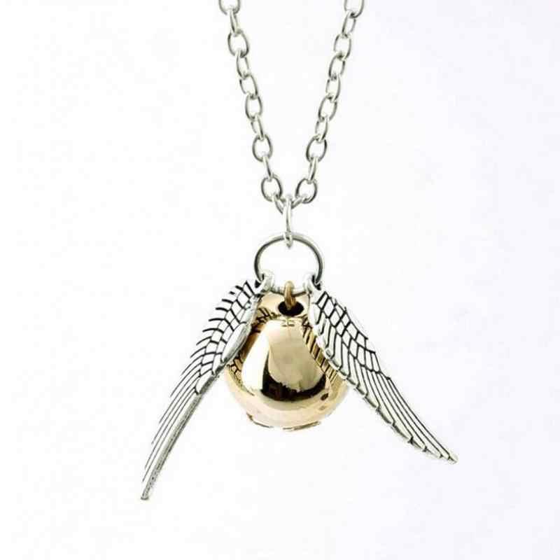 New  Necklace Fine Jewelry Popular fall angel wing charm Snitch necklace jewelry retro Men Women General