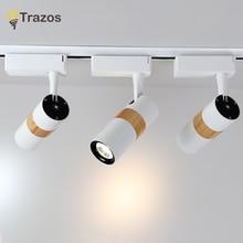 TRAZOS LED Ceiling Lights Adjustable Metal White Mirror Light Living Room Wood Sconce Deco Lighting Modern Alumi