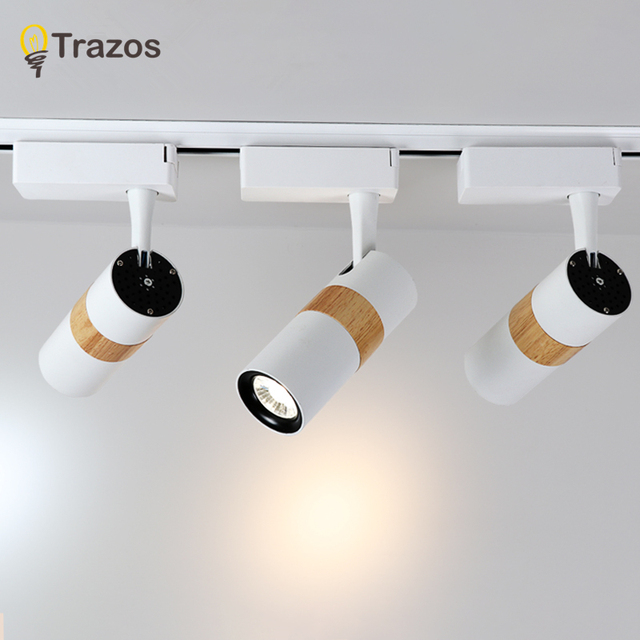 TRAZOS LED Ceiling Lights Adjustable Metal White Mirror Light Living Room Wood Sconce Deco Lighting Modern Alumi
