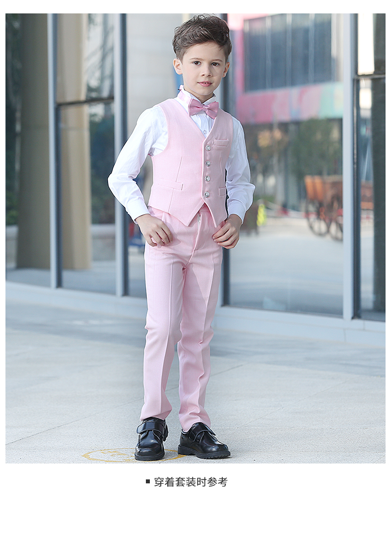 boys pink suits blazers boys wedding Pink Boy Kids Suit Set Outfits ...