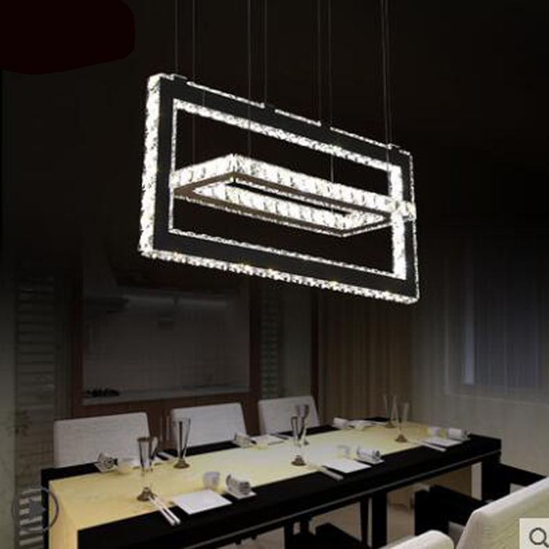 Chandelier creative personalized restaurant lights modern minimalist living room lights rectangular double dining room lighting цена