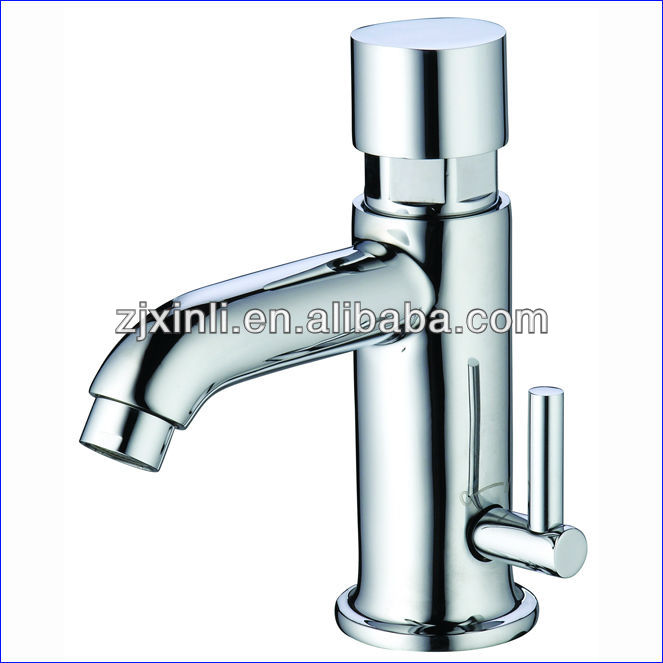 X10102 -Luxury Deck Mounted Chrome Color Brass Material  Cold & Hot Water Time Delay FaucetX10102 -Luxury Deck Mounted Chrome Color Brass Material  Cold & Hot Water Time Delay Faucet