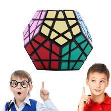 Горячее предложение! Распродажа! Специальные игрушки 12-сбоку магический куб-мегаминкс головоломка Скорость часы-кольцо с крышкой игрушка новая распродажа