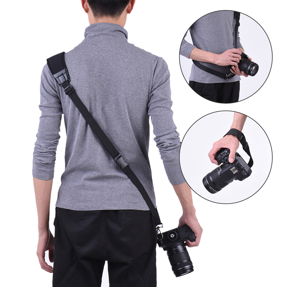 Black Wrist Strap for Canon Nikon Sony Quick Release Camera Shoulder Sling Neck DSLR ILDC DV Outdoor Shooting Accessories