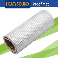 150CM x 100CM 60″ x 40″ Car Heat Shield Reflective Sound Deadener Insulation Mat Material Aluminum Foil Deadening Noise Control