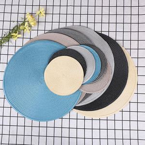 Weave Placemat Coaster Table-Mats Dining-Napkin-Pads Round Kitchen Heat-Resistant Party-Decoration