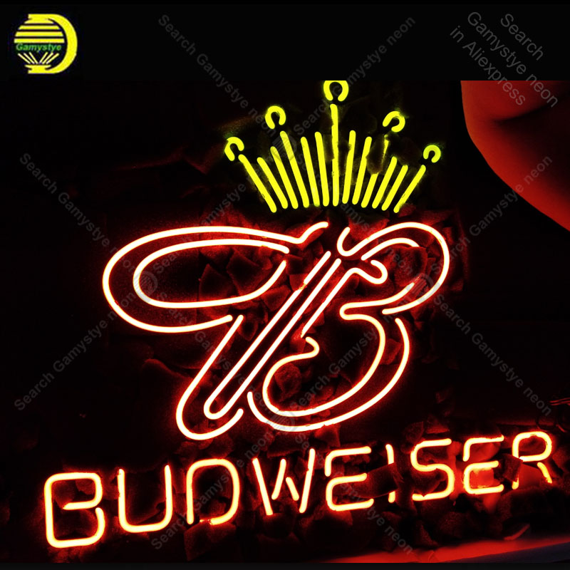 Neon Sign for Budweiser Neon Bulb sign shop Display handcraft real glass tube light Decor wall lamps advertise display in stock