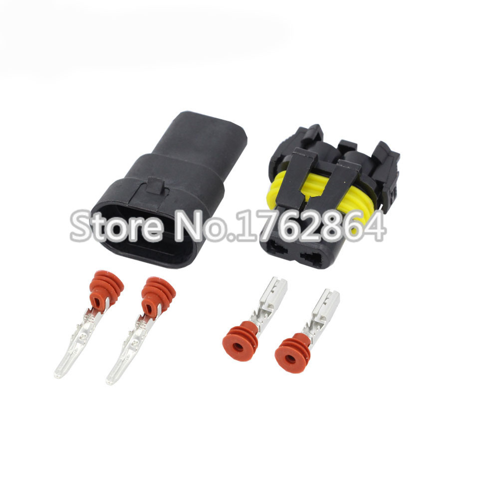 2 Pin Female Male DJ9005 Auto Waterproof AC Power Wiring Harness Connector  HID Cable Plug-in Connectors from Lights & Lighting on Aliexpress.com |  Alibaba ...