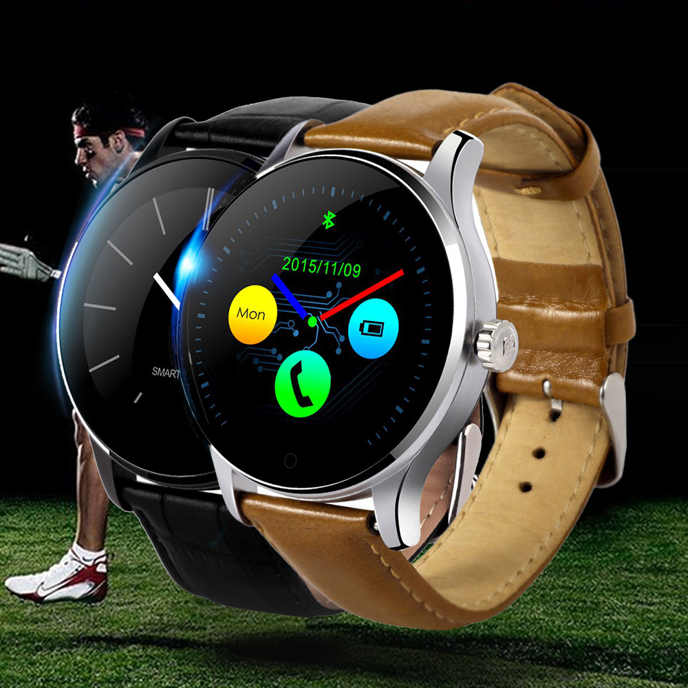 Original K88H Smart Watch MTK2502 Bluetooth Smartwatch Heart Rate Monitor Wearable Devices Waterproof Wristwatch For IOS