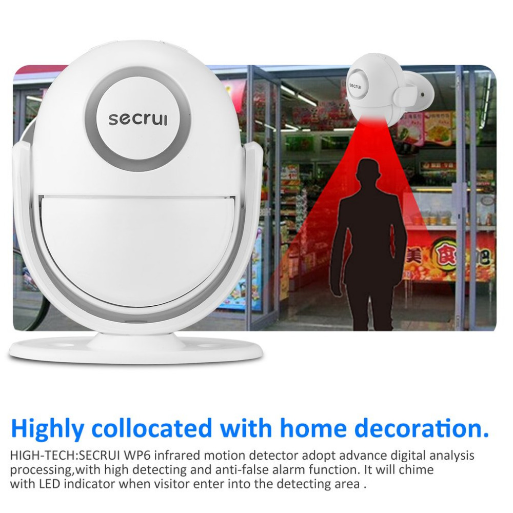 SECRUI Wireless Doorbell Welcome IR Infrared motion sensor Alarm 280M range home shop Door Bell Magnetic Chime with Remote ks v2 welcom chime bell sensor