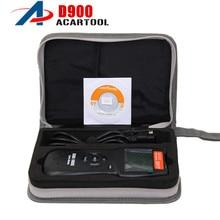 أفضل حقيبة يونيفرسال D900 2019 فولت مزودة بماسح ضوئي تشخيصي من النيلون مزودة بماسح ضوئي لرمز الخطأ OBD2 EOBD لمعظم السيارات