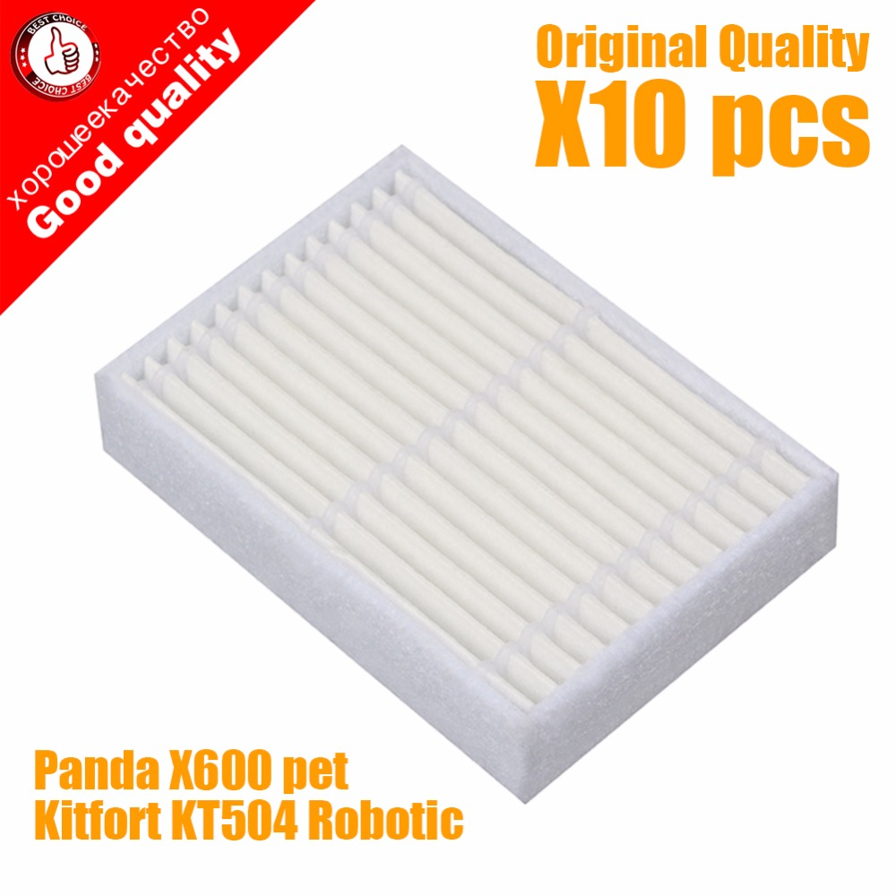 10pcs/lot High quality Robot Vacuum Cleaner Parts accessories HEPA Filter for Panda X600 pet Kitfort KT504 Robotic robot vacuum cleaner for home hepa filter sensor automatic vacuum cleaner household intelligent robotic vacuum cleaner krv205