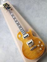 Hot Sale LP Tiger Guitar Striped Maple Cover Slash Guitar Signature On Headstock High Quality Free