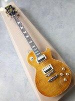 Sıcak Satış LP kaplan gitar çizgili akçaağaç kapak, Slash gitar mesnetli imza yüksek kalite ücretsiz kargo Özel mağazalar