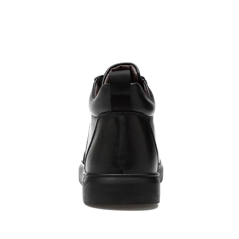 9b4ac1155e9be5 Cuir Clax Luxe Chaussures Chaussure Genuien Chaud En Fur Mâle Automne Marque  D hiver Black fur Fourrure No De Hommes Printemps Peluche Homme rECOqtxrw