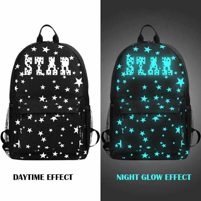 0ed6ae8dccfe Звезда Ночная школьные рюкзаки детей сумка холст печати рюкзак школьные  сумки для мальчиков-подростков Рюкзак