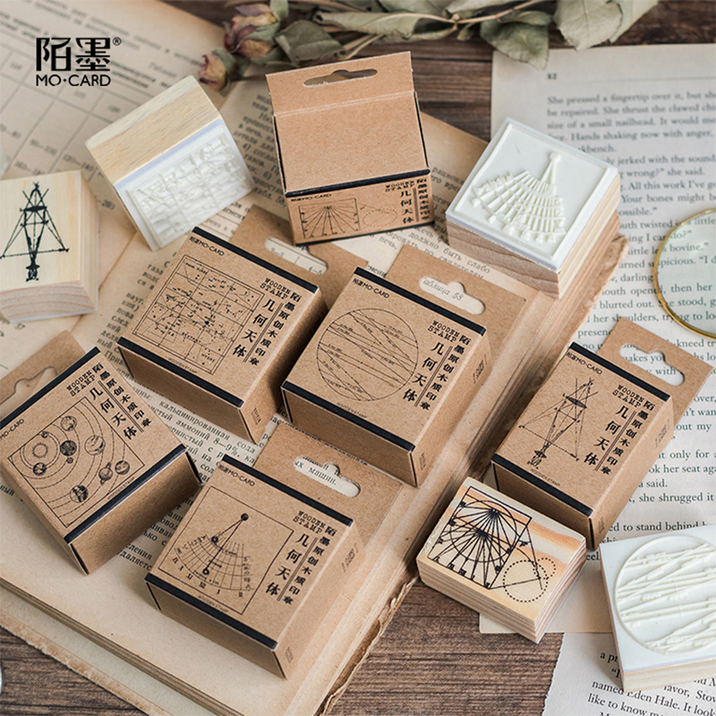 Aliexpress.com : Buy vintage geometric aster wood stamp ...