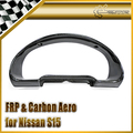 Car-styling For Nissan S15 Carbon Fiber Cluster Surround In Stock