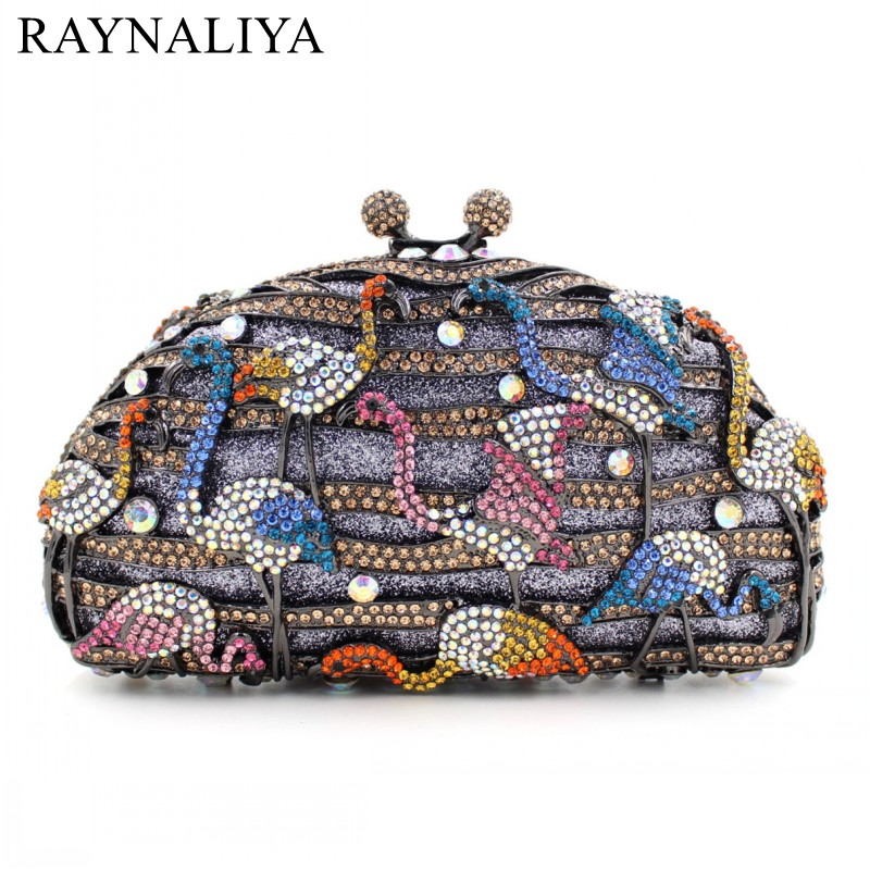 Luxury Female Clutch Bag Women Handbag Diamonds Crystal Handbags Hollow Out Party Evening HandBag Ladies Day Cluthes SMYZH-E0204 women luxury rhinestone clutch beading evening bags ladies crystal wedding purses party bag diamonds minaudiere smyzh e0193