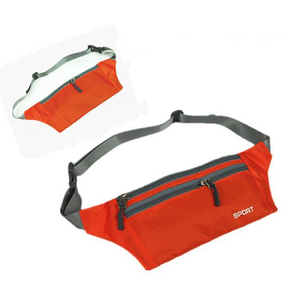 Comercio al por mayor 5 * (unisex bum práctica bolsa de viaje paquete de fanny correa de cintura zip pouch orange