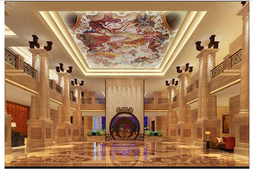 Customized 3d Wallpaper 3d Ceiling Wallpaper Murals Renaissance Of The  Chariot Of The Sun Zenith Mural Room Decoration In Wallpapers From Home  Improvement ...