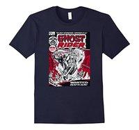 2017 Nuevos Hombres de la Llegada Camiseta de Manga Corta Marca Marvel Ghost Rider Comic Book Cover Impresión Camiseta Gráfica