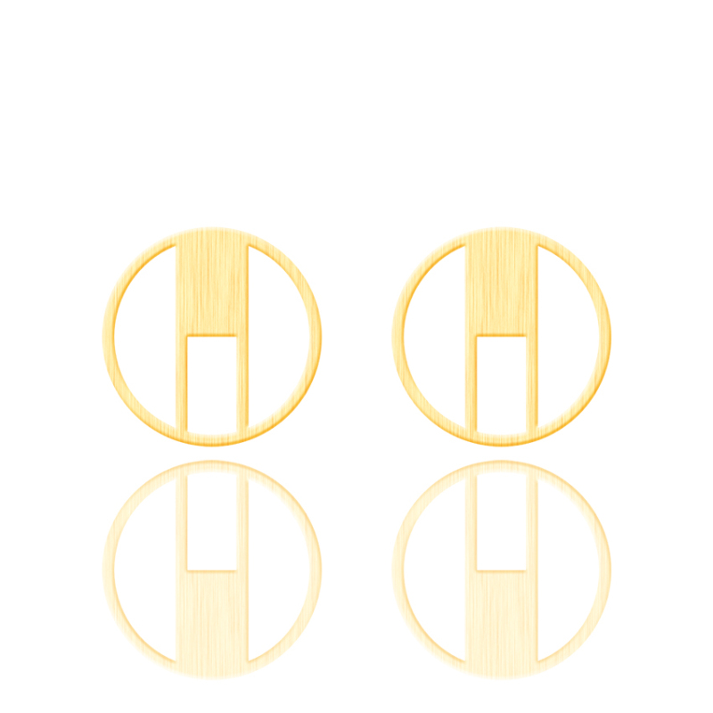 Gold Color Geometric Circle Stud Earrings For Women Pendientes Mujer Stainless Steel Earrings Fashion Jewelry Boucle d'oreille image