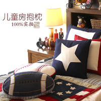 Country Model Room Bed Children S Room Decoration Cushion Pillow Football Model Pillow Home Furnishing