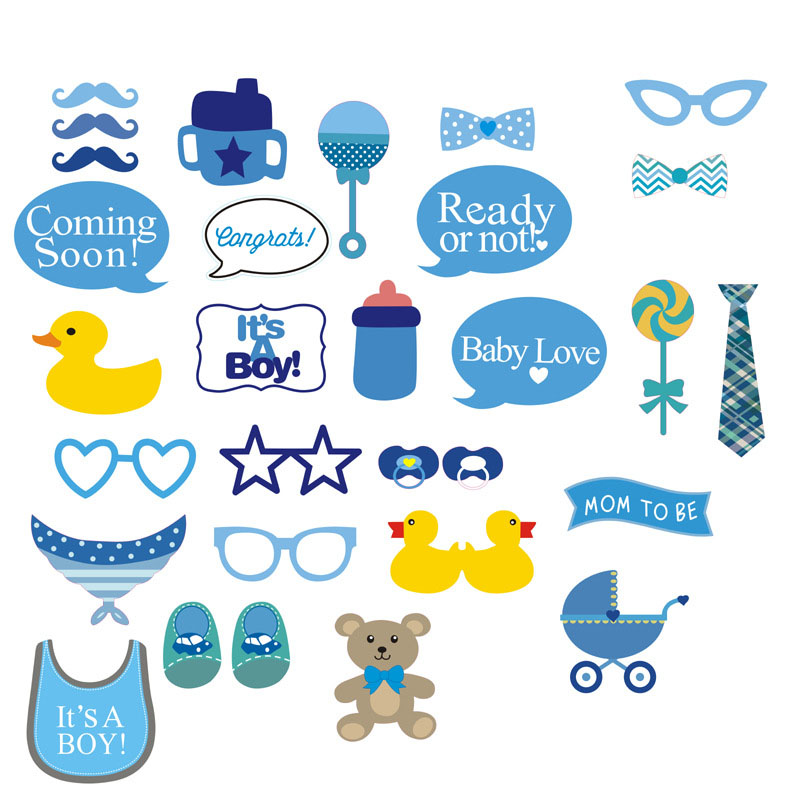 com buy 30 pcs set baby shower photo booth props boy girl baby