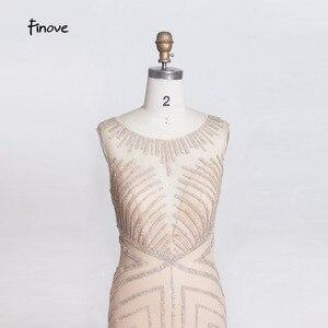 Image 5 - Finove robe longue de soirée, forme sirène, dillusion Sexy, tenue de soirée de standing, col rond transparent, tenue de fête, 2020