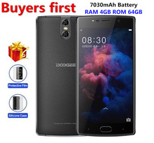 """DOOGEE BL7000 Android 7.0 7060 mAh 12V2A Charge 5.5 """"MTK6750T Octa Core 4 GB RAM 64 GB ROM Smartphone Double 13.0MP Cam mobile téléphone"""
