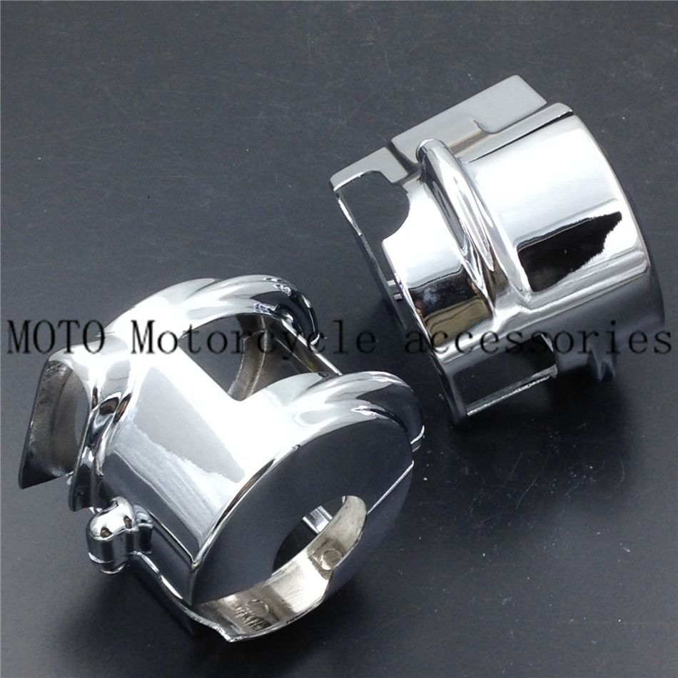 Motorcycle Switch Housing Cover For Shadow VT600 VLX750 Spirit ACE Aero VTX1300 2002 Year UP Billet Aluminum Chrome Finish