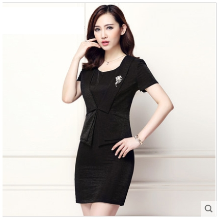 2015 Summer new arrival women's black short sleeve dress suit work ...