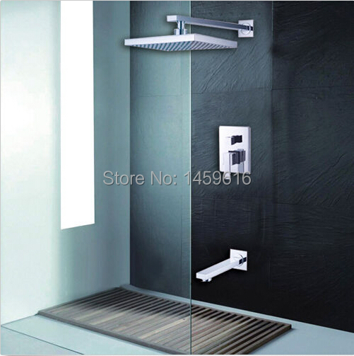 Free shipping Bathroom Rainfall Shower Complete Faucet Shower Set Concealed shower rain fall W009