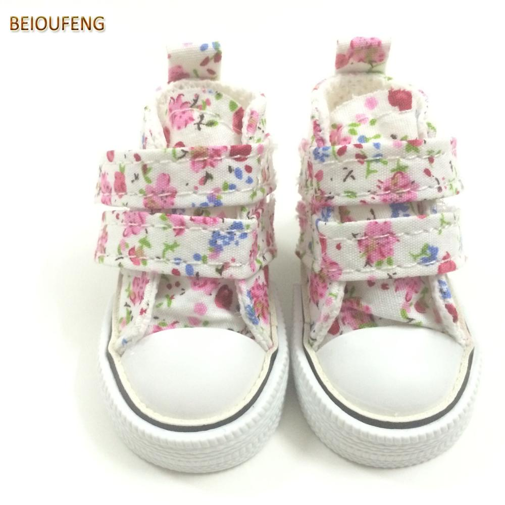 6CM Mini Toy Canvas Shoes 1 4 BJD Doll Shoes for Paola Reina Dolls Causal Sneakers