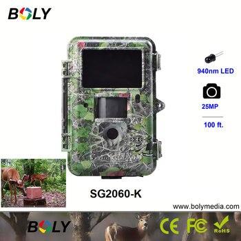 25MP visione notturna Boly 1080 P telecamere di caccia trappola invisibile IR LED 940nm telecamere di gioco 100ft gamma di rilevazione scout selvaggio cam