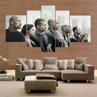 no frame 5PCS wall art Printed movie poster print Fast & Furious canvas painting wall pictures for living room home decor photo