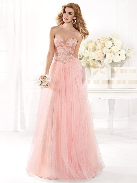 Custom Beautiful Light Pink Sweetheart Long Formal Dresses Backless Women Plus Size Prom Dress New Years