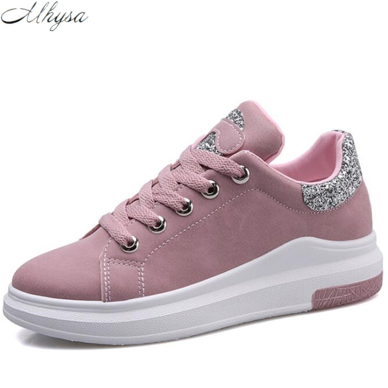 Mhysa 2018 Women New sneakers Autumn Soft Comfortable Casual Shoes Fashion Lady Flats Female Vulcanize shoes for student Y05 free shipping 2017summer autumn new fashion women shoes casual flats solid breathable simple women casual white shoes sneakers