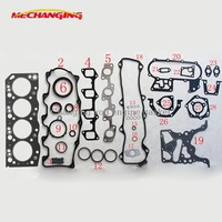 customized LOGO 2LT For TOYOTA HILUX II Pickup HILUX 2.4 Full Set Head gasket kit Automotive Parts Engine Gasket 04111 54040