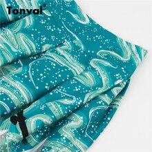 Tonval Retro Cotton Yellow Pleated High Waist Midi Skirts