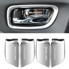 Нержавеющая сталь, автомобильная внутренняя дверная ручка, чаша, накладка, наклейка для nissan murano-, аксессуары для стайлинга автомобилей